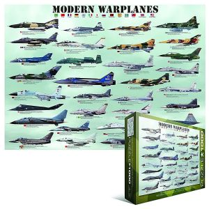 Modern Warplanes 1000 piece jigsaw puzzle  680mm x 490mm (pz)